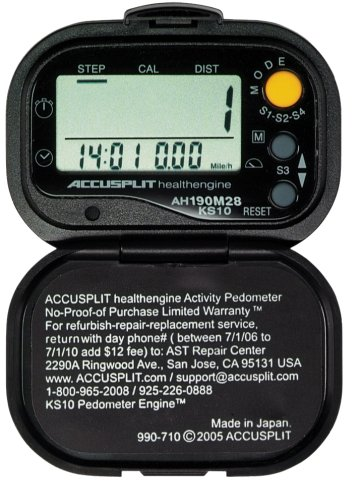 ACCUSPLIT Health Engine AH190M28 Pedometer/Step Counter with Auto-Activity Timer