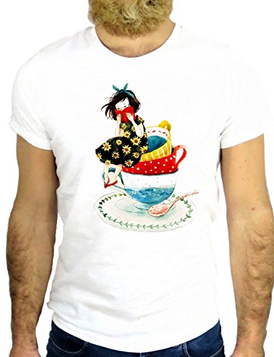 T SHIRT Z2461 COOL LADY NICE GIRL POWER FUN COOL VINTAGE DRAWING PAINT GGG24 BIANCA - WHITE S
