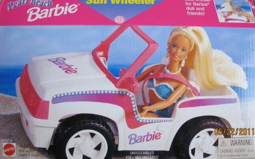 Pearl Beach BARBIE Sun Wheeler Vehicle Jeep Style Car (1997 Arcotoys, Mattel)
