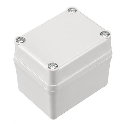 65 x 50 x 55mm Carcasa Caja de Conexiones Electrónica ABS de plástico DIY gris: Amazon.es: Bricolaje y herramientas