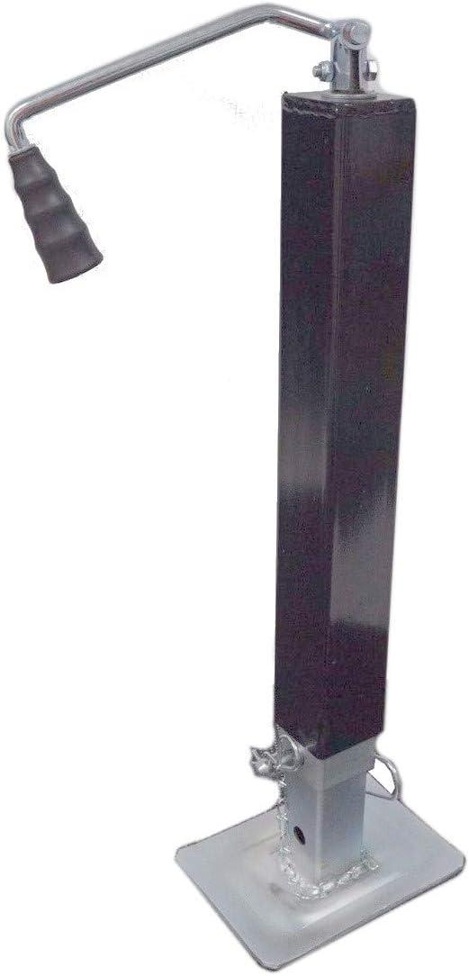 RAM side wind weld on square tube drop leg jack. Southwest Wheel 8,000 lbs
