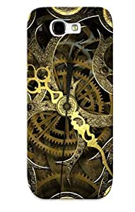 Forever Collectibles Vintage Clock Hard Snap-on Galaxy Note 2 Case With Design Made As Christmas's Gift wangjiang maoyi
