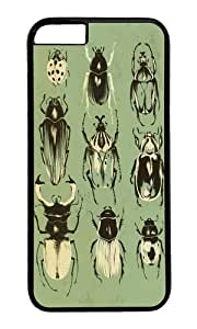 Apple Iphone 6 Case,WENJORS Adorable Moss Beetle Collection Hard Case Protective Shell Cell Phone Cover For Apple Iphone 6 (4.7 Inch) - PC Black