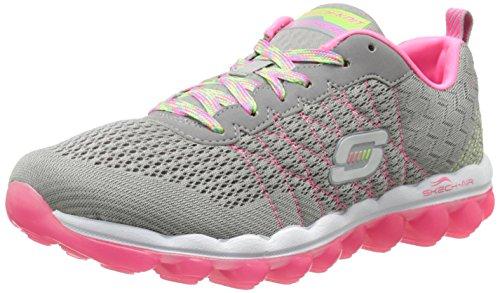 Light nbsp;Style Skechers Skech Pink de Fix Air material deportiva zapatilla Grey sintético mujer H14wqvx4