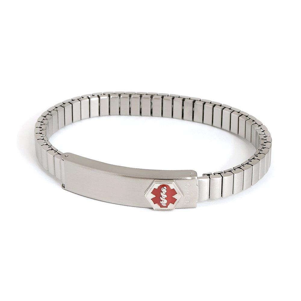Speidel Medilog Medical Alert Bracelet with Expansion Band in Silver Tone by Speidel