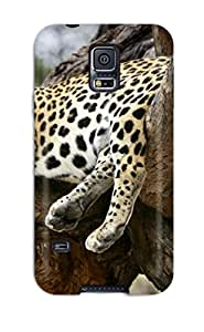 New Arrival Cover Case With Nice Design For Galaxy S5- Sleeping Leopard