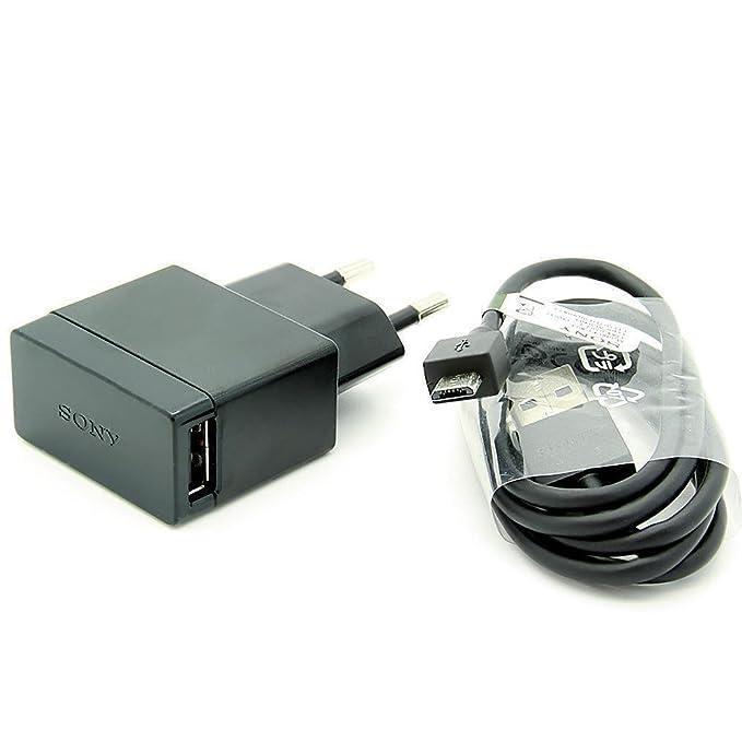 Original Negro 1500 mAh (1.5 Amp)  Sony Micro USB 2 Pines Cargador de Red Empaquetado a Granel Adecuado para Sony Xperia M2, Xperia M2 Dual, Xperia ...