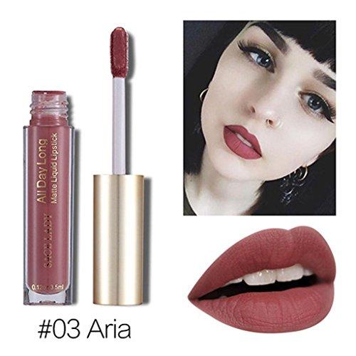 - Fheaven (TM) 6 Colors Available Non-stained Lip Glaze Waterproof Lipstick Matte Lipstick Rich Vitamin E Moisturizing Lipstick (A)