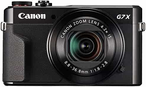 Canon PowerShot Digital Camera [G7 X Mark II] with Wi-Fi & NFC, LCD Screen, and 1-inch Sensor - Black