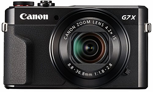 Canon PowerShot Digital Camera [G7 X Mark II] with Wi-Fi & NFC, LCD Screen, and 1-inch Sensor - Black, 100 - 1066C001