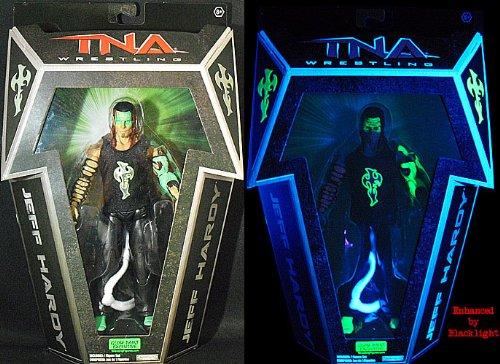 TNA Exclusive Glow In The Dark Jeff Hardy Wrestling Figure by Jakks Pacific