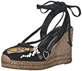 Marc Jacobs Women's Nathalie Espadrille Wedge Sandal, Black Multi, 38 EU/8 M US
