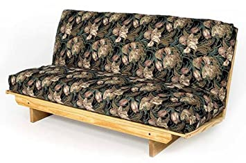 full size super ez futon frame solid wood sofa bed couch to bed in less than