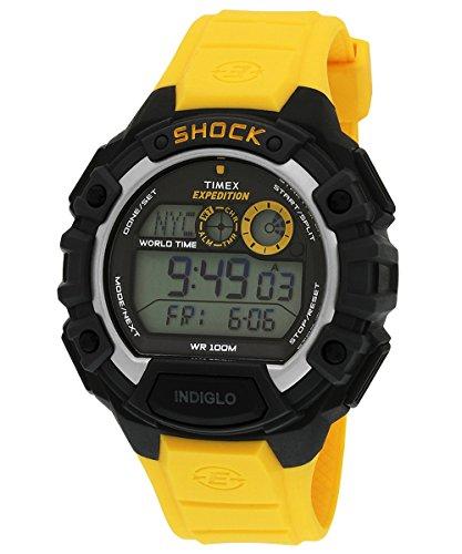 (Timex Men's  T499749J Digital Quartz Expedition  Global Shock Yellow/Black Watch)