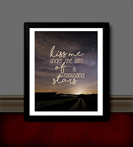 ED SHEERAN Inspired Lyric Art | Poster Print | 11x14 | Thinking Out Loud | (Out Thinking Loud Lyrics)