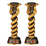 Design Toscano Renenutet, the Cobra Goddess Altar Candlestick and Candle Set of Two