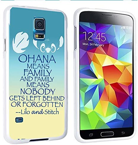 Lilo And Stitch Quote Ohana Wallpaper Iphone And Samsung Galaxy Case Samsung Galaxy S5 White Amazon Ca Cell Phones Accessories
