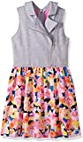 Sean John Big Girls' Tropical Geo Traveler Vested Dress, Multi, L