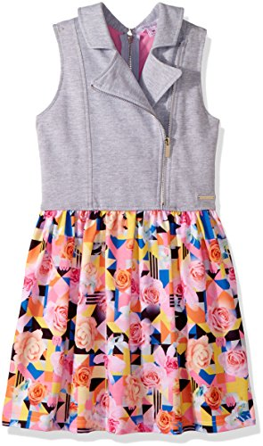 Sean John Big Girls' Tropical Geo Traveler Vested Dress, Multi, L by Sean John (Image #1)