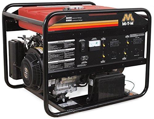 Mi-T-M GEN-8000-0MSE Gasoline Generator, 8000W Maximum AC Output