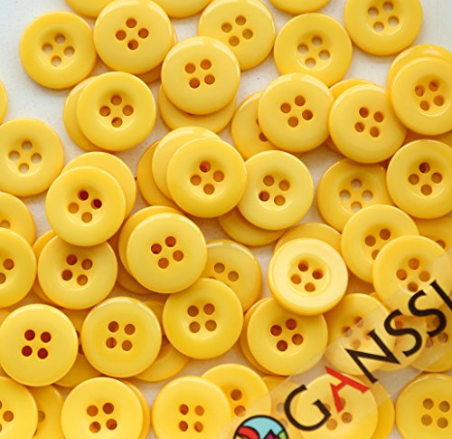 GANSSIA Holes Sewing Buttons Yellow product image