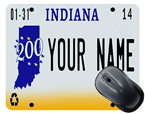 BleuReign(TM) Personalized Custom Name 2016 Indiana License Plate Mouse Pad
