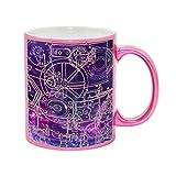 Steampunk Schematics Colorpop Metallic Pink Sparkle Coffee Mug