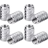 tire air valve - eBoot Tire Stem Valve Caps Aluminium Car Dustproof Caps Tire Wheel Stem Air Valve Caps, 8 Pieces (Silver)