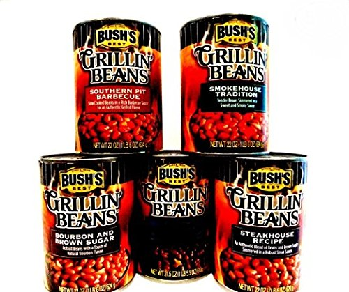 bushs-grillin-baked-beans-variety-4-pack-free-can-of-maple-cured-bacon-beans-48-piece-set-of-heavy-d