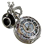 Alice in Wonderland Tea Party Steampunk pocket watch necklace pw1