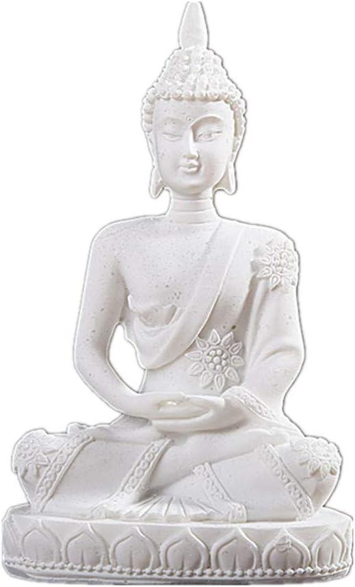 "Vilead Mini Buddha Statue Dhyani Mudra Sculpture Hindu Fengshui Praying Sitting Figurine for Home Decor 4.3"""