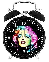 """Marilyn Monroe Alarm Desk Clock 3.75"""" Home or Office Decor E314 Nice For Gift"""