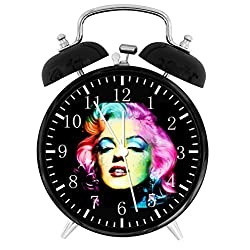 Marilyn Monroe Twin Bells Alarm Desk Clock 4 Home Office Decor E314 Nice for Gifts