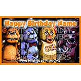 Five Nights at Freddy's Birthday Banner Personalized/Custom