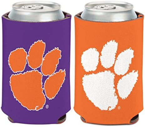 NCAA Clemson University Tigers 1 Pack 12 oz. 2-Sided Can Cooler