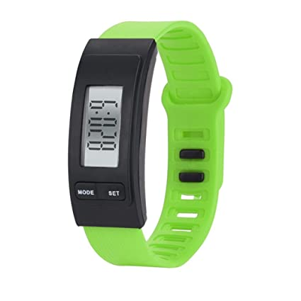 Longra☆ Run Step Watch Pulsera Podómetro Calor Contador Digital LCD Walking Distance Relojes Inteligentes Relojes
