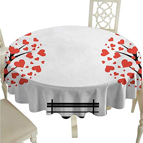 Birch Corner Hearth - Zodel Dustproof Square Tablecloth Tree of Life Trees with Hearth Shaped Leaves and Bench Love Valentines Romance Design and Durable D50 Suitable for picnics,queuing,Family
