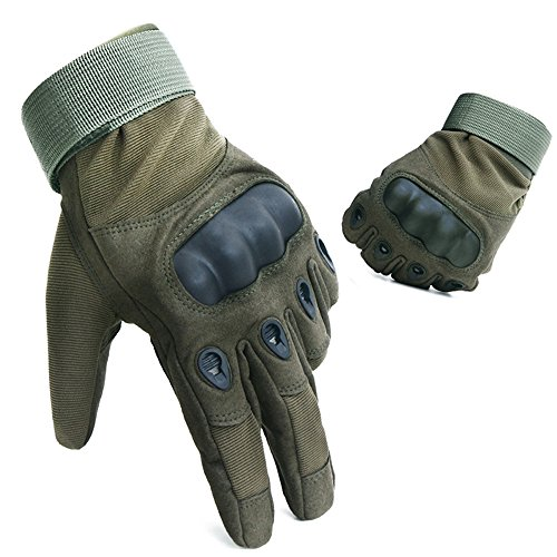 Full Five Finger Hard Knuckle Shooting Tactical Gloves for Cycling Climbing Motorcycle Camping Hiking Airsoft Shooting Unisex for Men and Women