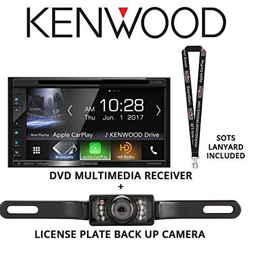 """Kenwood DDX6704S 6.8"""" DVD Receiver + License Plate Back Up C"""
