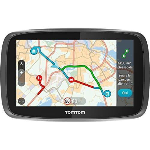 TomTom GO 5100 (5 Pouces) Cartographie Monde, Trafic et Zones de Danger à Vie (1FL5.002.59)