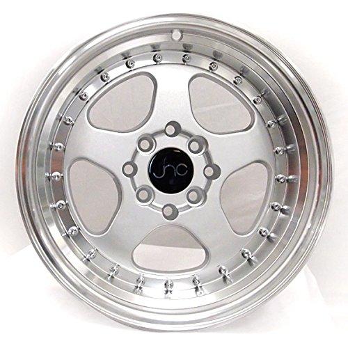 JNC010, 15x9, 4x100/4x114.3, Silver / Machined Lip, et20 *FREE SHIPPING