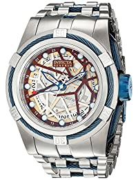 Invicta Men's 13762 Bolt Reserve Automatic Gold Tone Dial Stainless Steel Watch