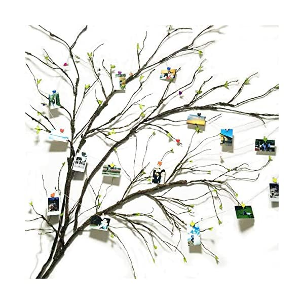 Artificial Twig 42inch Metal Branch Sprays with 105pcs leaves for Centerpieces and Arrangements Living Room Wall Hanging Decoration Picture Display Decor