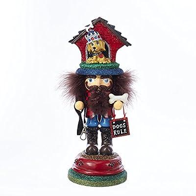 """Kurt Adler HA0337 13"""" Hollywood Doghouse Hat Nutcracker"""