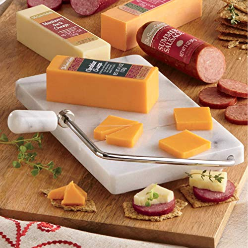 (Marble Cheese Board & Slicer from The Swiss Colony)