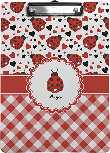 Ladybugs & Gingham Clipboard (Letter Size) -