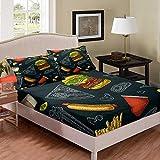 Castle Fairy Burger Hot Dog Pizza Bed Sheet Girl