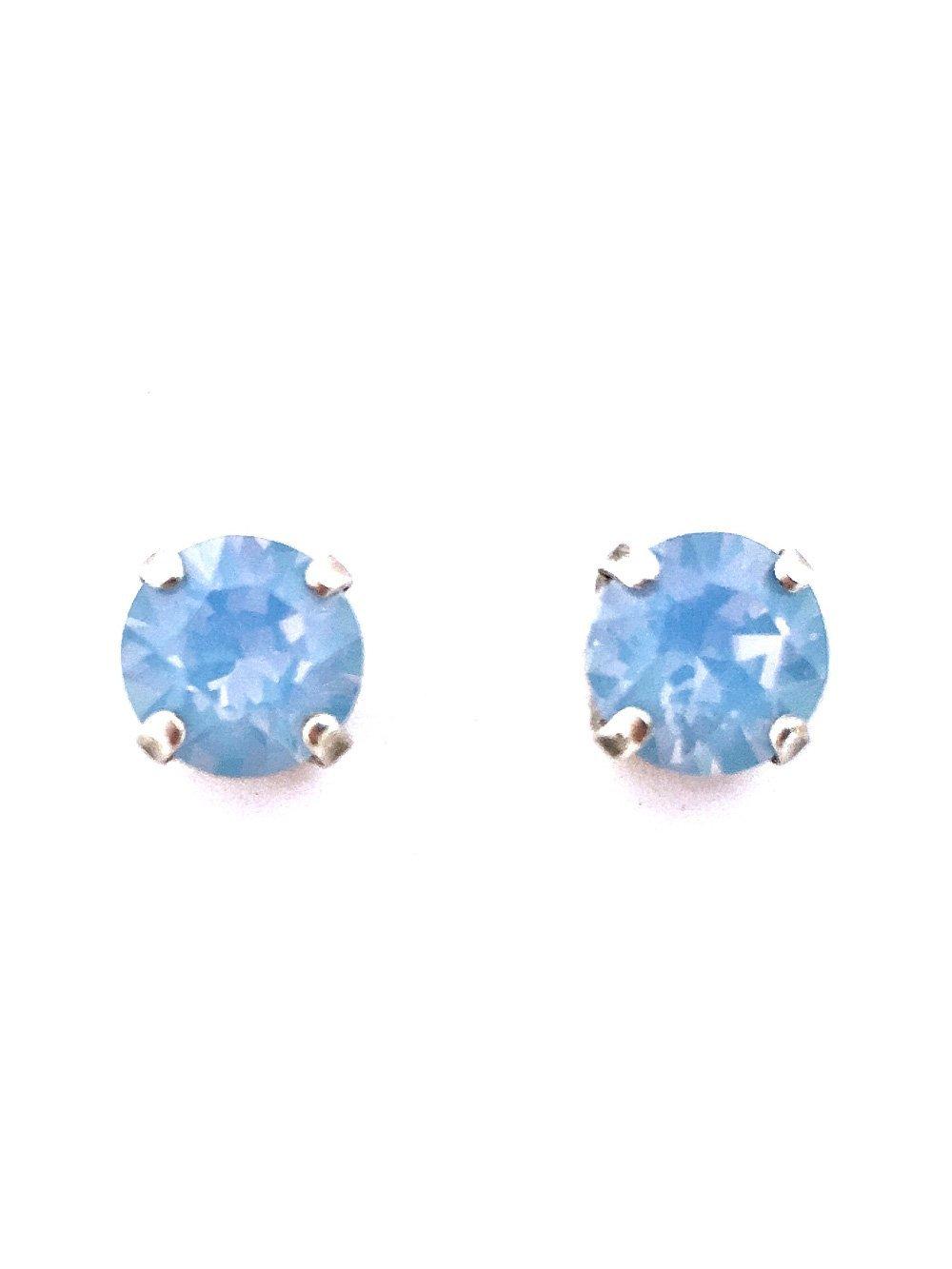 e4776f84be13 Amazon.com  Swarovski Crystal Rhinestone Air Blue Opal - 39ss Post Stud  Earrings  Handmade