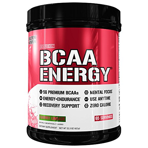 Evlution Nutrition BCAA Energy - High Performance Amino Acid Supplement for Anytime Energy, Muscle Building, Recovery and Endurance, Pre Workout, Post Workout (Cherry Limeade, 65 Servings)