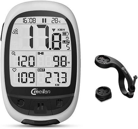 DOOK Ciclocomputadores GPS Bluetooth Computadora Bicicleta Inalámbrica Ciclismo Cuentakilometros Bici M2 Ant + Connect con medidor de Potencia de Monitor de FC: Amazon.es: Deportes y aire libre